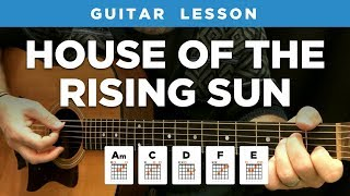 🎸 House Of The Rising Sun Guitar Lesson W/ Chords & Tabs (The Animals)