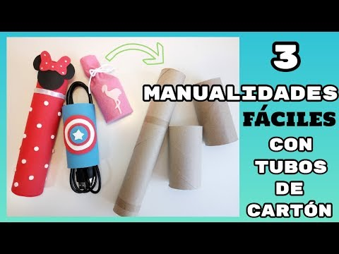 9 Manualidades Faciles Reciclando: 3 DIY con Tubos de Cartón - YouTube