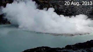 Phreatic eruptions at Poás volcano, Costa Rica