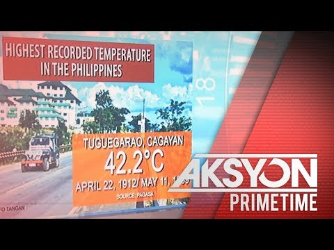 [News5]  Highest temperature in the Philippines
