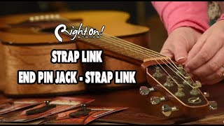 How to attach a guitar strap to an acoustic guitar and acoustic-electric guitar without. Strap tie