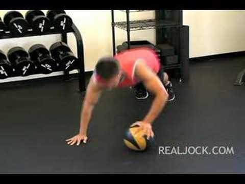 Medicine Ball Upper Body Shuffles