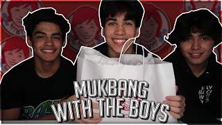 mukbang with the boys