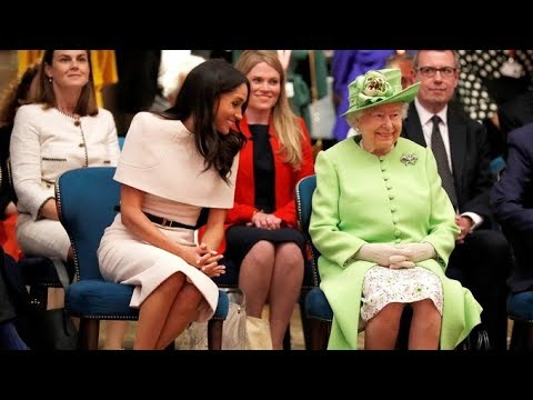 Meghan Markle is shown the royal ropes by the Queen on first joint outing | ITV News