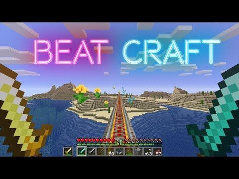Beat Saber on a Budget (Minecraft Rhythm game) -Synchronized