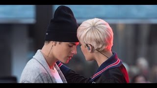 Justin Bieber and Halsey  - The Feeling (live cover with interview on 11-18-2015)