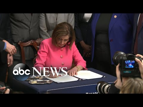 Articles of impeachment hand-delivered to the Senate