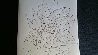 tutorial/como dibujar a broly/how to draw broly step by step/ (steps art)