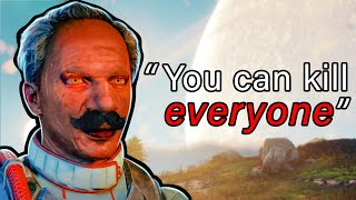 You can kill any NPC in Outer Worlds so I tried killing ALL of them