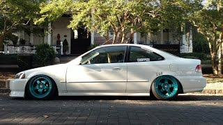 Wheel Spacers and Camber | Bagged Honda Civic