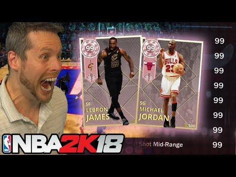 99 RATING on EVERYTHING! MAXED OUT LEBRON & JORDAN! NBA 2K18
