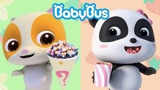 Bayi Panda Makan Popcorn Lezat | Lagu Makanan Anak | BabyBus Bahasa Indonesia