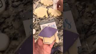 Decorating Graduation Cookies