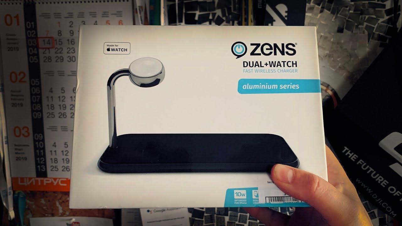 Беспроводное ЗУ Zens Dual + Apple Watch (ZEDC05B/00) Black video preview