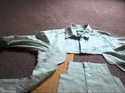 Transform An Old Men's Dress Shirt Into A Toddler's Dress
