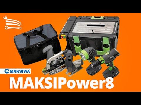 Kit Multifunção MAKSIPower8 a Bateria 8 em 1 - Furadeira, Serra Circular, Serra Tico-Tico, Lanterna e Bancada - Video