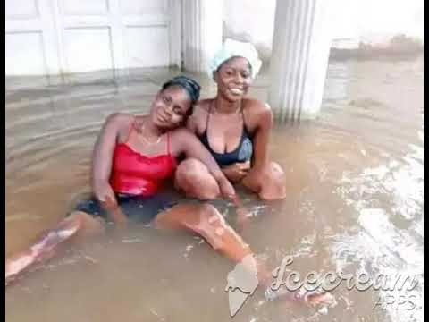 Nigerian Ladies Use Flooded Home as Swimming Pool