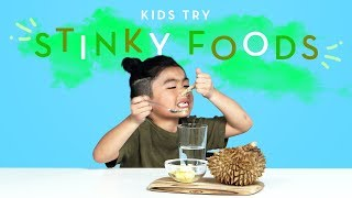 Kids Try Stinky Foods from Around the World | Kids Try | HiHo Kids