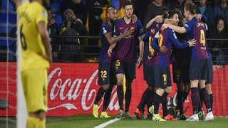 ¡¡¡PARTIDAZO!!! Villarreal 4-4 Barcelona