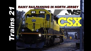 [T-11] [Speedway To The Atlantic] Rainy Railfanning CSX And NS In NORTH JERSEY