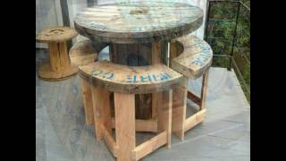 26 Recycled Cable Spool Furniture Part 2