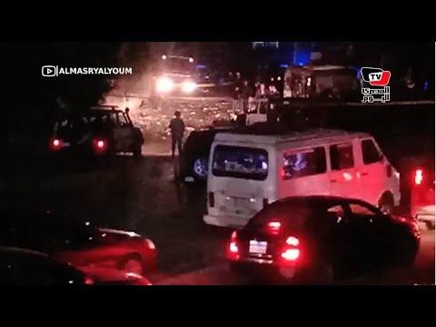 اللقطات الأولى لحادث المريوطية الإرهابي