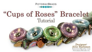 Cups Of Roses Bracelet- DIY Jewelry Making Tutorial By PotomacBeads