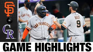 Brandon Belt lifts Giants with home run | Giants-Rockies Game Highlights 8/5/20