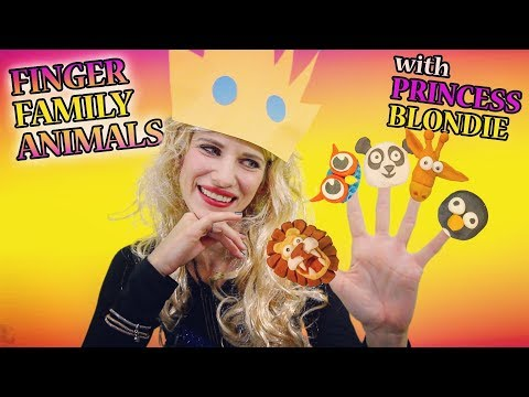 FiNGeR FaMiLY ANiMaLS SoNG   ANiMALSkeTCH NuRSeRY RhYMeS w/ PRiNCeSS BLoNDiE