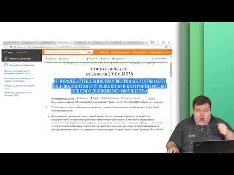 Урок 2 Правовые основы создания и функционирования государственного учреждения. Имущество учреждения