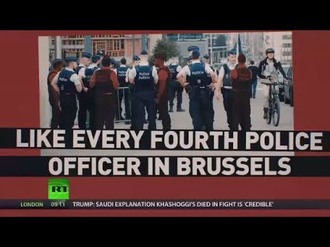 'Absent due to illness': Belgian police officers protest over pension reform and staffing issues