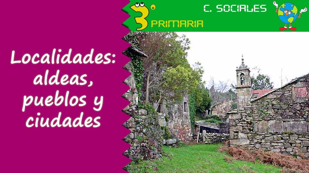 Ciencias Sociales. 3º Primaria. Tema 2. Tipos de localidad: aldea, pueblo y ciudad