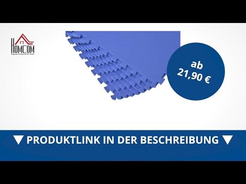 Homcom 8 tlg Puzzlematte Spielmatte Bodenmatte Turnmatte EVA blau - direkt kaufen!