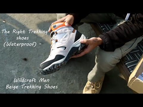 The Right Trekking shoes (Waterproof) – Wildcraft Men Beige Trekking Shoes