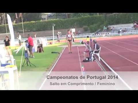 Hanna Knyazyeva-Minenko Long Jump Portugal 2014