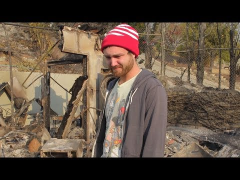 William Osman has lost his house to a wildfire.