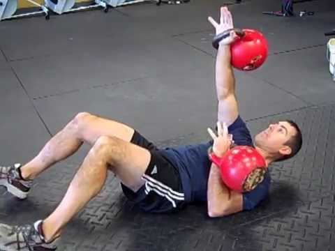 Alternating Floor Press with Kettlebell