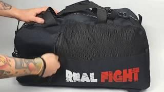 Сумка трансформер FightEvo Real Fight черная