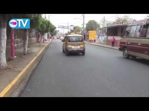 Construyen obras para seguridad de peatones y conductores en Masaya