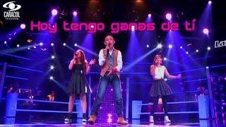 Hoy tengo ganas de tí (Miguel Gallardo) La voz Kids Colombia