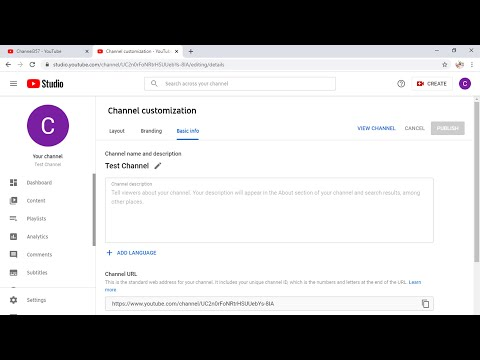 How to Change YouTube Channel Name 2021 (Desktop)