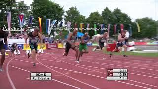Damian Warner 100m 10,15 Götzis 2016