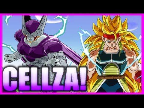 CELL AND FRIEZA FUSION! CELLZA VS SSJ3 BARDOCK!