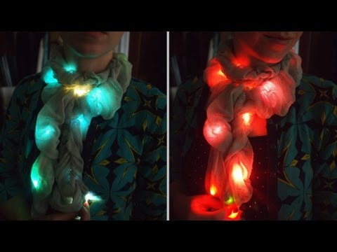 This Colour-Changing LED Chameleon Scarf Perfectly Matches Any Outfit