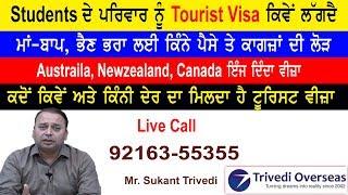 ਇੰਝ ਲੱਗਦਾ Students ਦੇ ਪਰਿਵਾਰ ਦਾ Tourist Visa I Funds & Documents Requirement I Canada I Australia