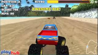 Бесплатные игры онлайн  грузовик монстр, монстр трак игра, гонки, monsterTruck, игра для мальчиков,