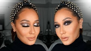 Glitter Holiday Makeup Tutorial | All Things Adrienne