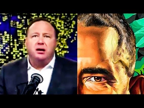 Alex Jones Obsesses Over Sperm On Barack Obama's Face