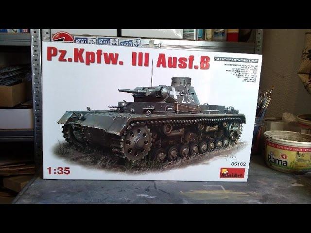WWII german deutscher Panzer Pz.Kpfw.III Ausf D//B in 1:35 MiniArt 35213  Neu