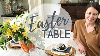 2020 EASTER TABLE DECOR + CENTERPIECE | DECORATE + COOK WITH ME | BLOOM CREATIVE CO.